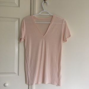 Everlane Luxe Drape Deep V t-shirt